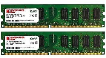 Komputerbay 8Go (2 x 4Go) DDR2 DIMM (240 broches) 800MHz PC2 6400 PC2 6300 8Go - CL 5