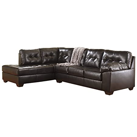 Flash Furniture Alliston Sectional Sofa, Chocolate Dura Blend