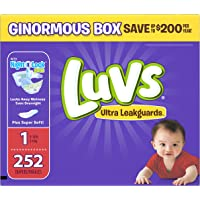 252 Count Luvs Ultra Leakguards Newborn Diapers Size 1
