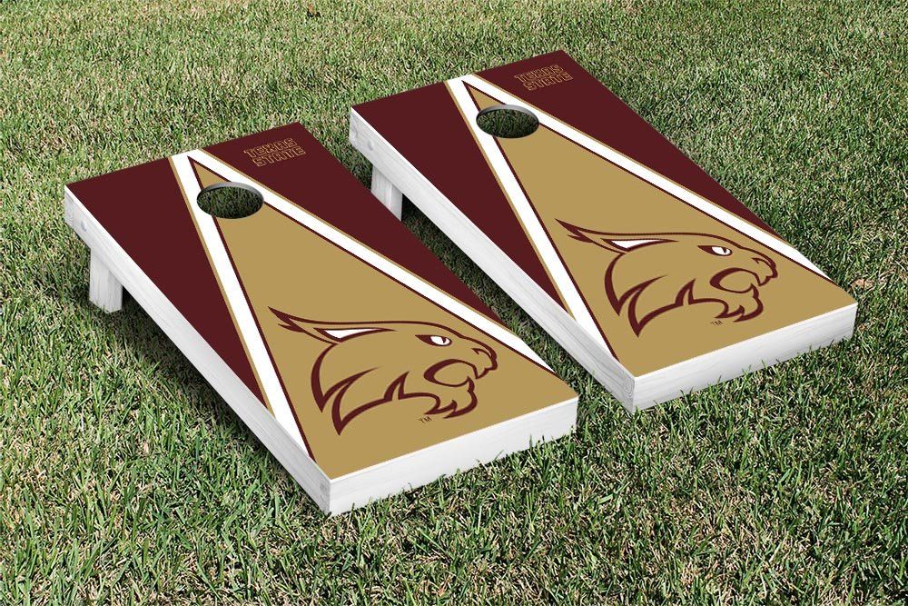 Amazon.com : Texas State University Bobcats Cornhole Game Set ...