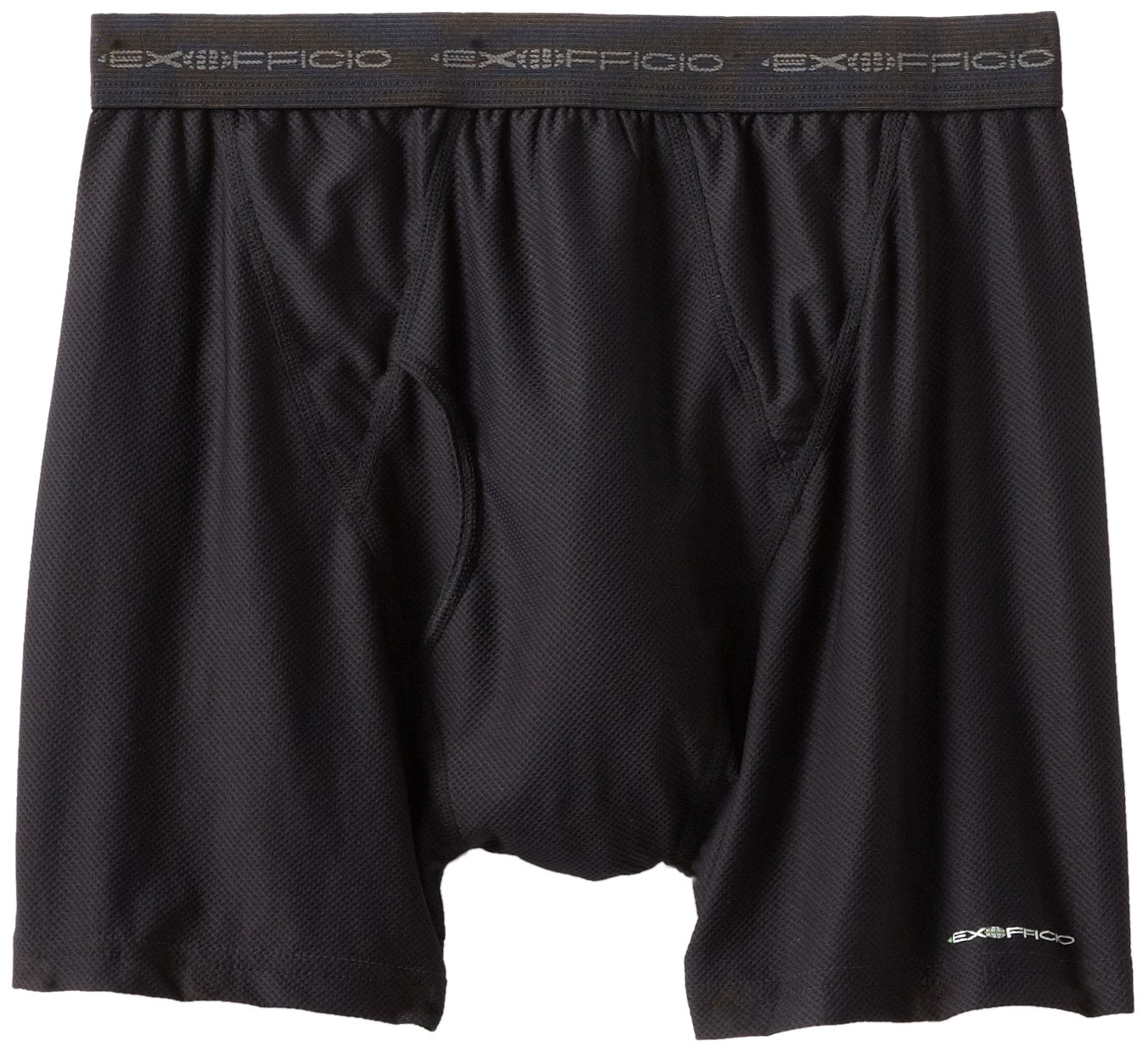 ExOfficio Men&#8217;s Give-N-Go Boxer Brief,Black,Medium $15.64