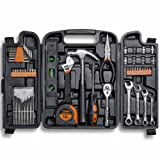 VonHaus 54 Piece Tool Set - General Household Hand Tool Kit with Ratchet Wrench, Precision Screwdriver Set, Socket Kit in a Molded Storage Case - Ideal for Home Repair & Car Maintenance - Tool Gift (Tamaño: 53 Piece)