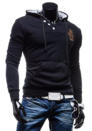 1601c10cec5e Now the price for click the link below to check it. AMBITION FLY - Sweat à capuche - Bouton - AMBITION FLY 1909 - Homme.
