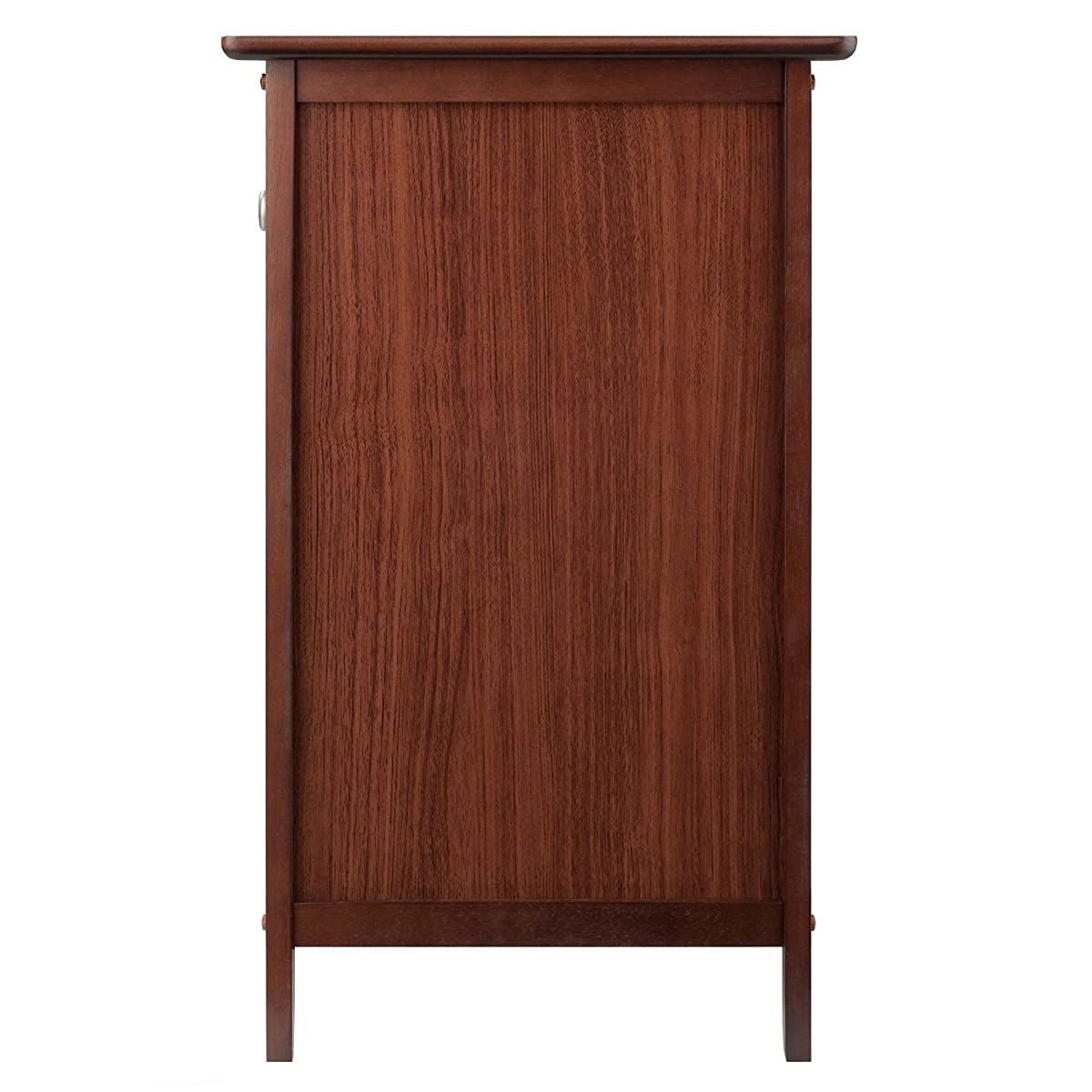 Winsome Wood Night Stand/ Accent Table with Drawer and Cabinet for Storage, Antique Walnut