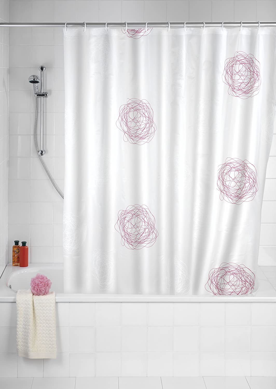 wenko duschvorhang 180 x 200 dusche wanne vorhang duschvorhangringe 19505 neu ebay. Black Bedroom Furniture Sets. Home Design Ideas