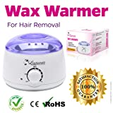 Wax Warmer Melting Pot Electric Hot Wax Heater for Facial Hair Removal Total Body Brazilian Waxing Salon or Self-waxing Portable Plug in Full Size Single Paraffin Can and All Types of Hair Removal Wax (Color: Wax Warmer, Tamaño: 400 grams)