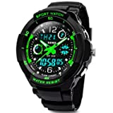 Kids Sports Digital Watch - Boys Analog Waterproof Sport Watches with Alarm,LED Watch For Childrens