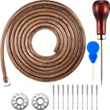 Norme 1 Pack 183 cm 3/16 Inch Leather Belt Treadle Parts with Hook Compatible with Singer/Jones Sewing Machine (Color: multicolored, Tamaño: 183 cm)