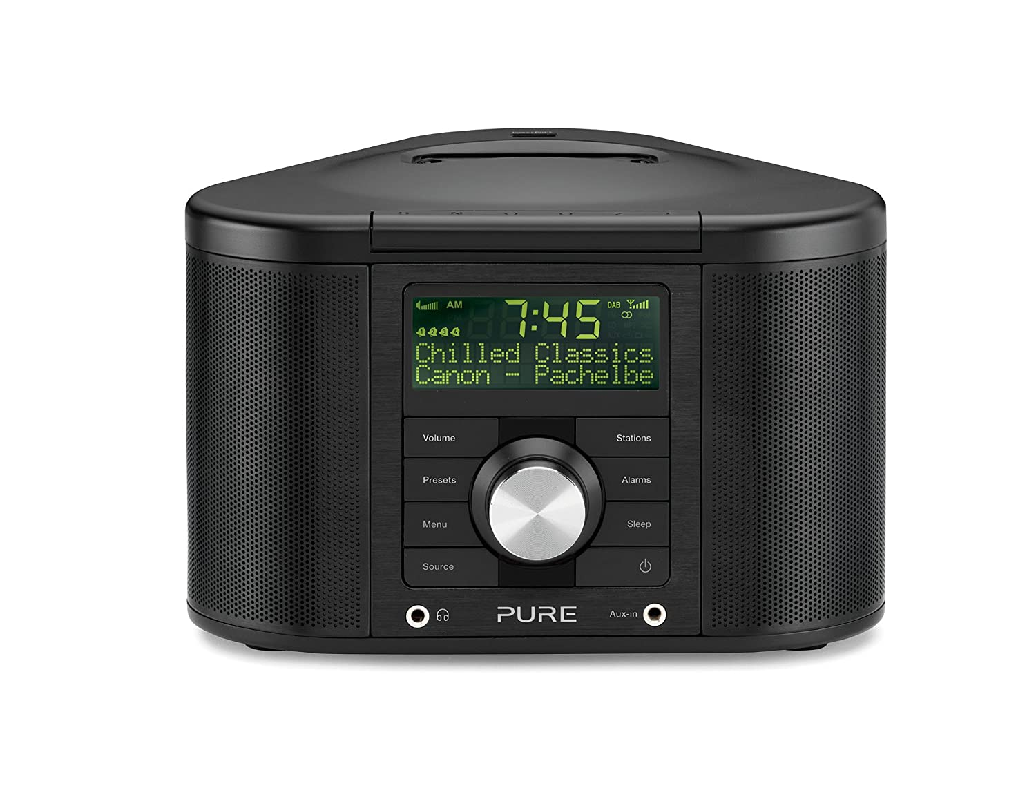 pure digital chronos idock series ii alarm clock dab radio iphone ipod dock ebay. Black Bedroom Furniture Sets. Home Design Ideas
