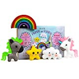 Unicorn and Rainbows Stuffed Animal Sewing Craft Kit for Kids