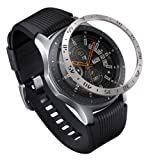 Ringke Bezel Styling for Galaxy Watch 46mm / Galaxy Gear S3 Frontier & Classic Bezel Ring Adhesive Cover Anti Scratch Stainless Steel Protection [Stainless] for Galaxy Watch Accessory GW-46-01 (Color: 46mm - Stainless Steel (GW-46-01))