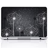 Meffort Inc 17 17.3 Inch Laptop Notebook Skin Sticker Cover Art Decal (Free wrist pad) - Black & White Dandelion (Color: Black & White Dandelion, Tamaño: 17 Inch)
