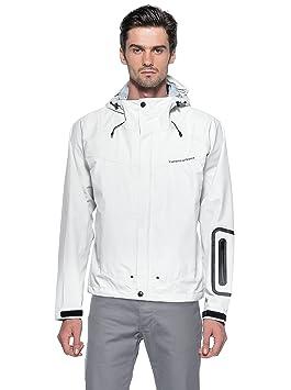 Tucano urbano 558W5 gUSCIO rAIN jacket-fully waterproof et respirant, three-layer jacket., white-taille l