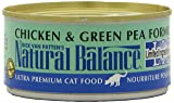 Natural Balance Canned Cat Food, Limited Ingredient Chicken and Green Pea Recipe, 24 x 6 Ounce Pack