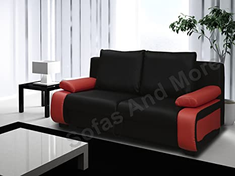 VICTORIO SOFA BED (BLACK AND RED)