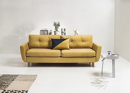 Three 3 Seater Fabric Sofa Bed with Srorage
