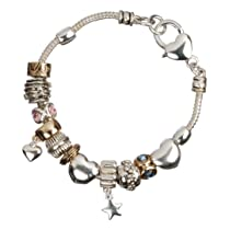 Hearts and Stars Charm Bracelet
