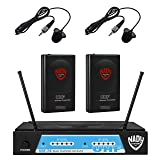 Nady UHF-24 Wireless Dual Lapel / Lavalier Microphone System with True Diversity (Color: Bodypack Transmitter (2 Lavaliers))
