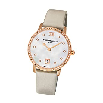 Frederique Constant FC-220MPW4SD34 37mm Diamonds Stainless Steel Case White Satin Anti-Reflective Sapphire Women's Watch