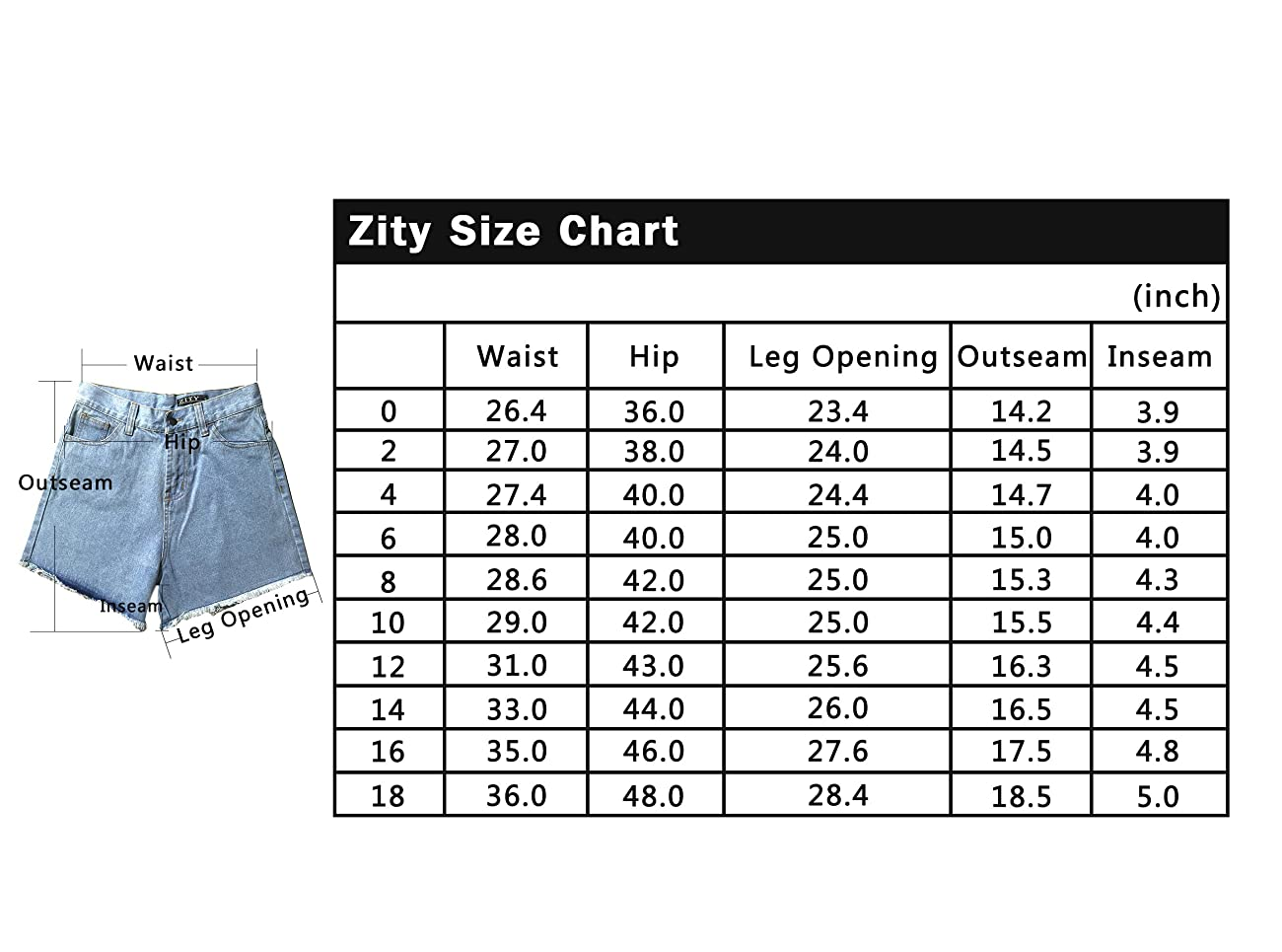 Zity Lady Women Retro Girl High Waisted Oversize Crimping Boyfriend Jeans Shorts Pant 6