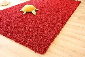 Shaggy Hochflor Teppich Funny Langflor Teppich in rot mit ÖkoTex Siegel, Größe 240x340 cm   Kundenbewertung und Beschreibung