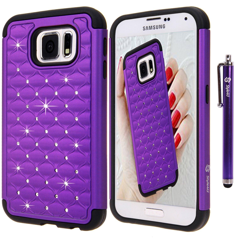 Style4U Crystal Bling Hybrid Armor Samsung Galaxy S6 Phone ...