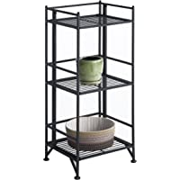 Convenience Concepts Designs2Go Metal Folding 3 Shelf Bookcase (Black)