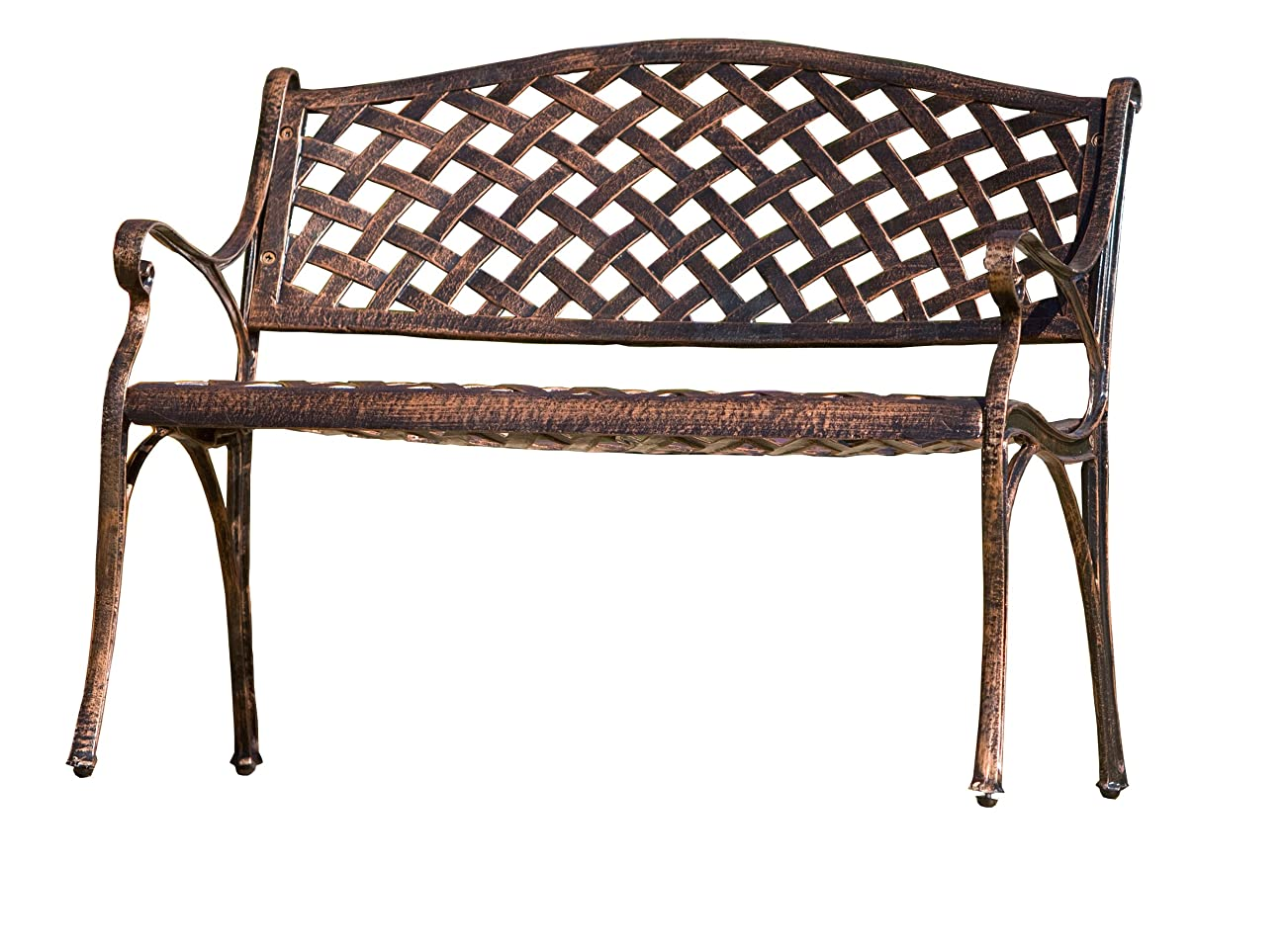 Best Selling Cozumel Cast Aluminum Bench, Antique Copper Finish 0