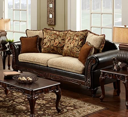 Chelsea Home Furniture Trixie Sofa, Radar Havana/Bi-Cast Brown