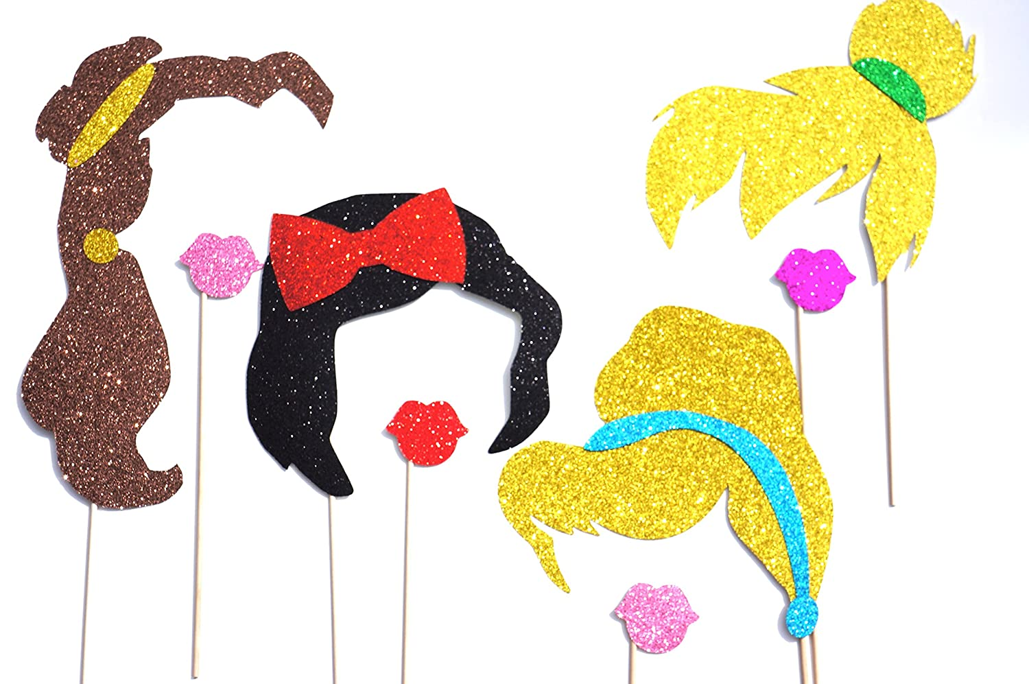 Disney Princess Birthday Party Photo Booth Props on a Stick