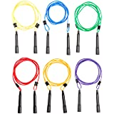 Sportime AdjustaLength Jump Rope Set, Up to 9 feet, 6 Colors, Set of 6