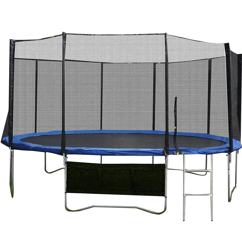Gartentrampoline Outdoor Trampoline Komplettset inkl. Sicherheitnetz,Leiter,Schuhtasche und Regenabdeckplane diverse Größen jetzt bestellen