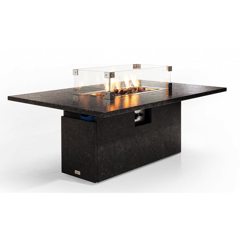 Studio 20 Etna Gartentisch 145 x 90 x 67 cm mit Brenner Granittisch Tischkamin Tischplatte Pearl grey satiniert günstig kaufen
