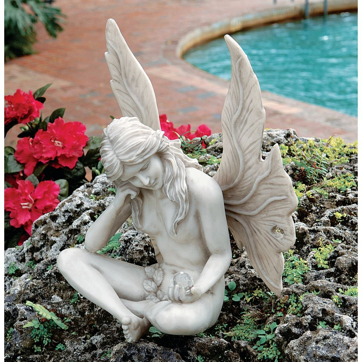 Outdoor fairy garden statues for your fairy garden Reading fairy garden statue