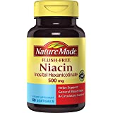 Nature Made Flush-Free Niacin (B3) 500 mg. Softgels 60 Ct