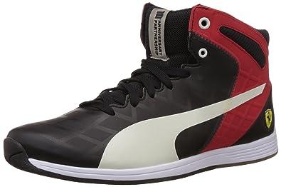 046c90e061cf0b ... Puma Unisex evoSPEED 1.4 SF Mid 10 Black and Red Sneakers - 8 UK ...