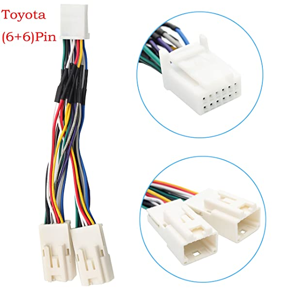 Auxillary Adapter,Yomikoo Y Cable Radio Wiring Harness for ... on camry accessories, camry seats, camry throttle body, camry engine,