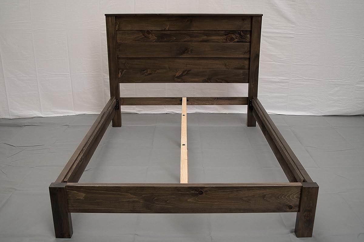 Rustic Farmhouse Platform Bed w Headboard - King/Traditional Platform Frame/Wood Platform Reclaimed Bed/Modern/Urban/Cottage Platform Bed