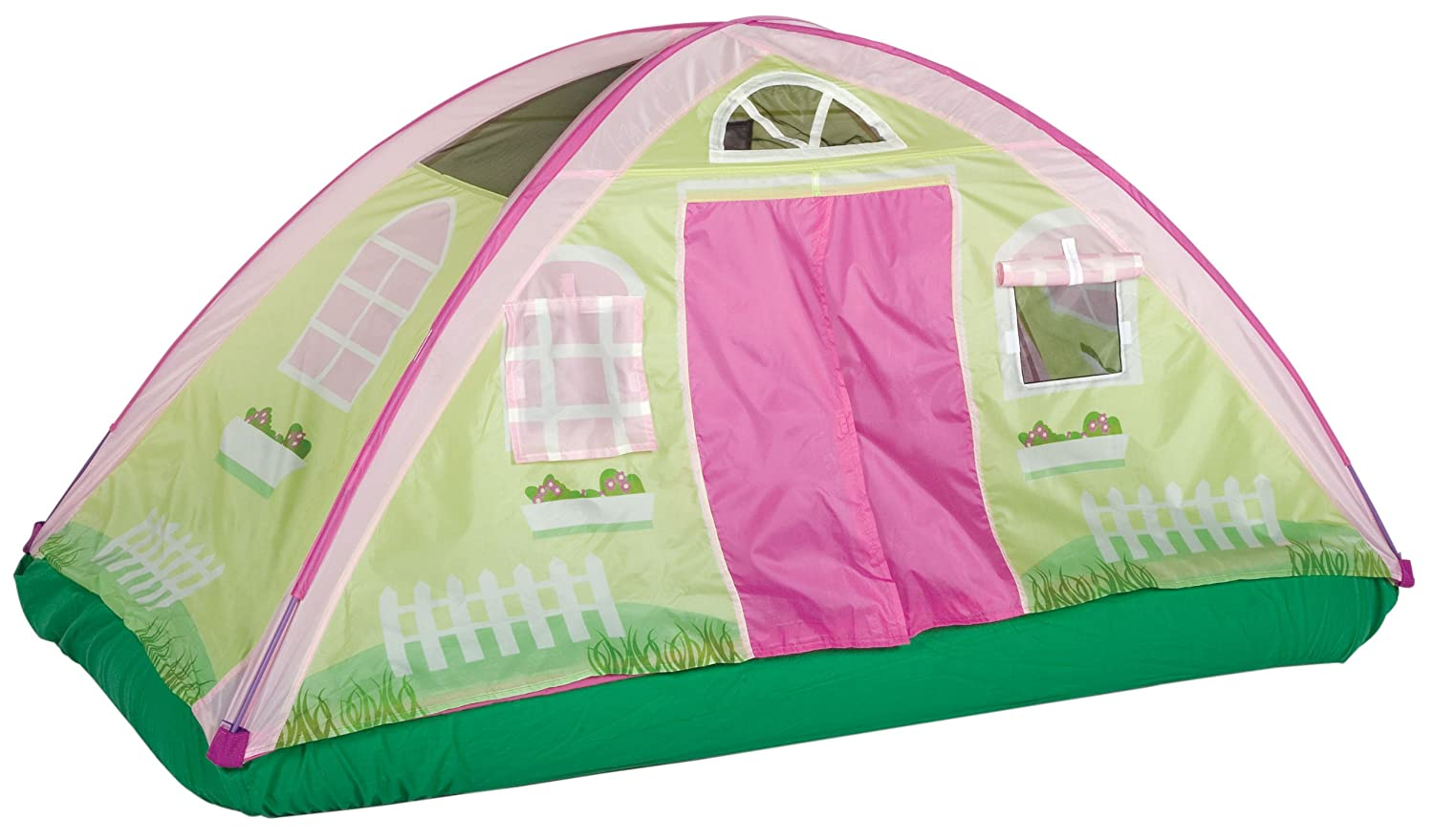 Pacific play tents cottage bed tent twin 19600 new for Tent cottage