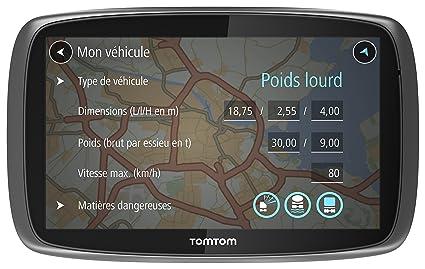 TomTom GPS Camion Trucker 5000 Europe 45 Cartographie à Vie (1FL5.002.12)
