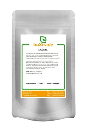 L-Carnitin Base 100% reines Pulver Aminosäure Energie Stoffwechsel VERSCHIEDENE GRÖßEN