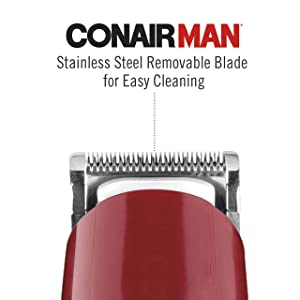 ConairMAN Beard & Mustache Trimmer, Includes 3 All-Purpose Combs - Corded/Plug-In