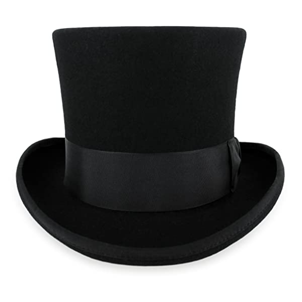 Belfry John Bull Theater Quality Mens Wool Felt Top Hat In Gray Or