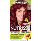 Garnier Nutrisse Nourishing Hair Color Creme, 66 True Red (Pomegranate) (Packaging May Vary) (Color: 66 True Red (Pomegranate), Tamaño: 1 Count)