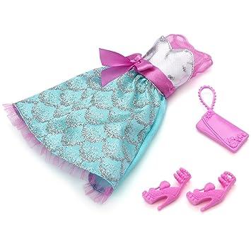 Barbie - W3179 - Poupée et Mini-Poupée - Robe de Soirée - Vert