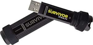 Corsair Flash Survivor Stealth 256GB USB 3.0 Flash Drive (Color: Black, Tamaño: 256 GB)