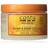 Cantu Natural Hair Define & Shine Custard 12 Ounce Jar (354ml) (6 Pack) (Tamaño: 12 Ounce (6 Pack))