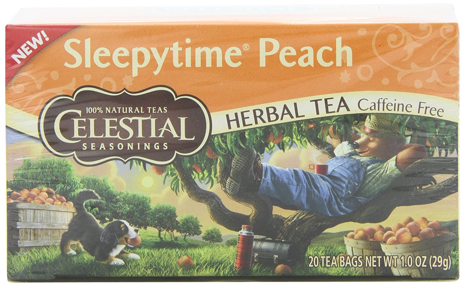 Celestial Seasonings Sleepytime Herbal Tea, Peach, 20-Count