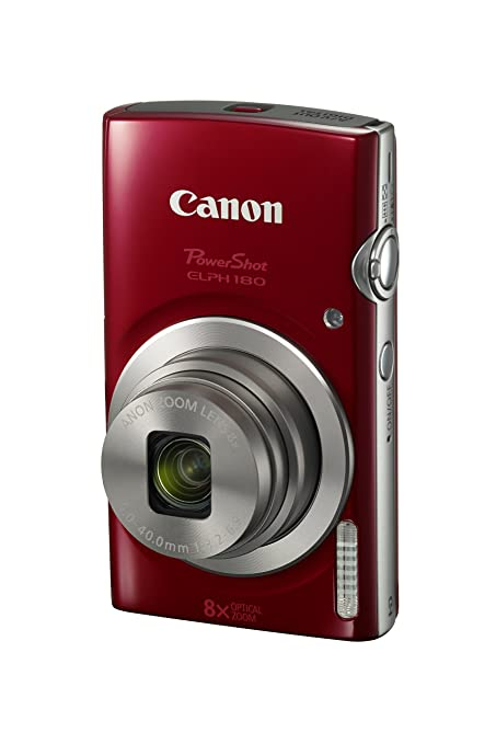 PowerShot ELPH 180 20MP Red at amazon