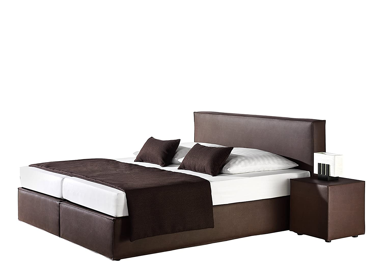 Maintal Betten 236745-4176 Boxspringbett Carva 180 x 200 cm, kunstleder braun